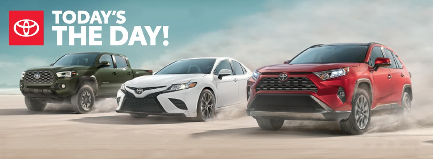 Today's the Day Sales Event Sand Mountain Toyota