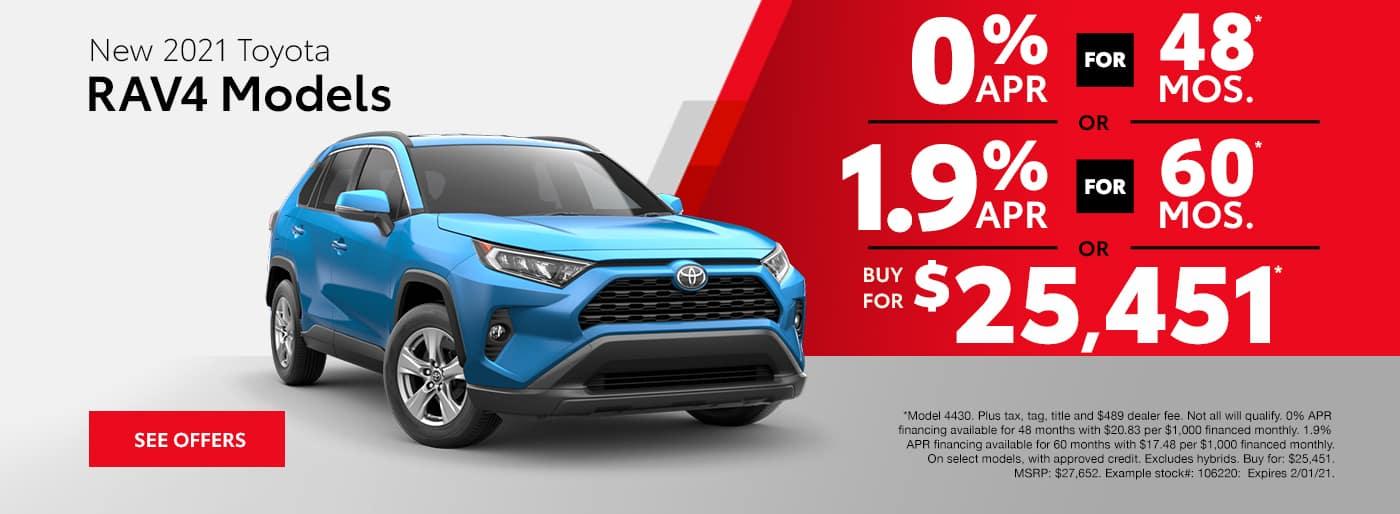 New 2021 Toyota RAV4 Models Albertville AL