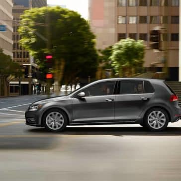 2019 VW Golf At Intersection