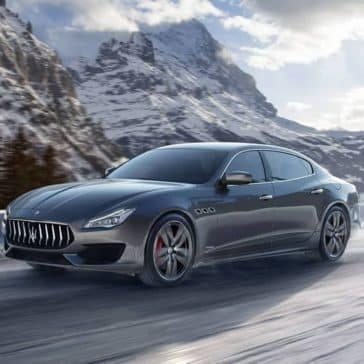 2019 Maserati Quattroporte among snowy mountains