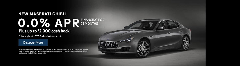 New Maserati Ghibli 0.0% APR