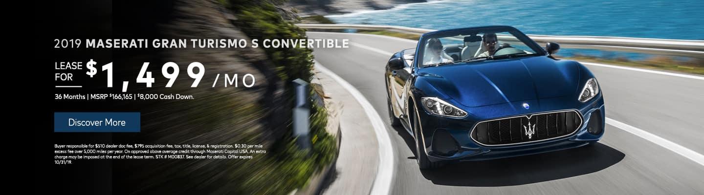 2019 Maserati Gran Turismo S Convertible