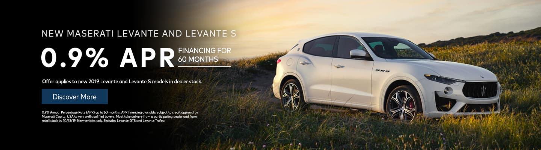 New Maserati Levante and Levante S 0.9% APR
