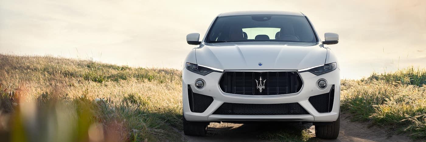 A 2020 Maserati Levante parked in a field