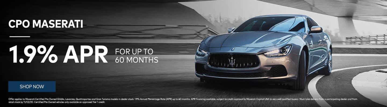 CPO Maserati 1.9% APR