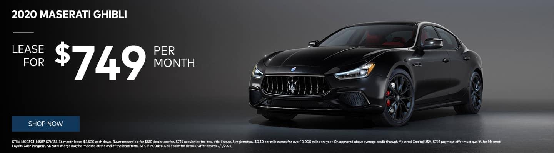2020 Maserati Ghibli lease for $749/mo