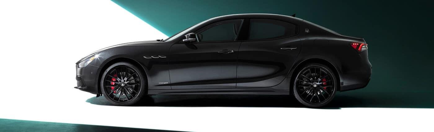 Exterior profile view of a 2021 Maserati Ghibli