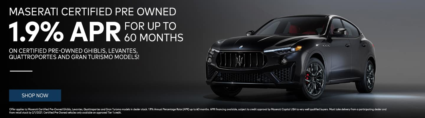 1.9% APR for up to 60 months