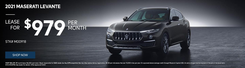 2021 Maserati Levante $979/month! STK# M00918
