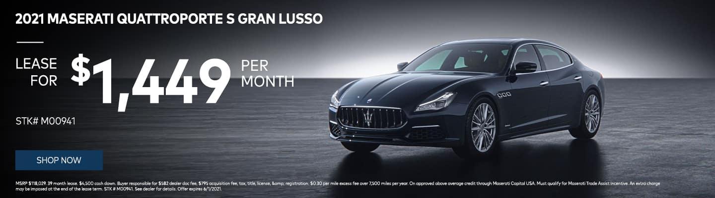 2021 Maserati Quattroporte S Gran Lusso $1449/month! STK# M00941