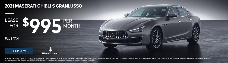 2021 Maserati Ghibli S GranLusso $995/month plus tax!