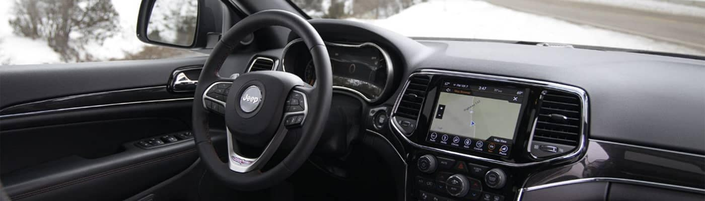 Jeep Dashboard Options with Navigation