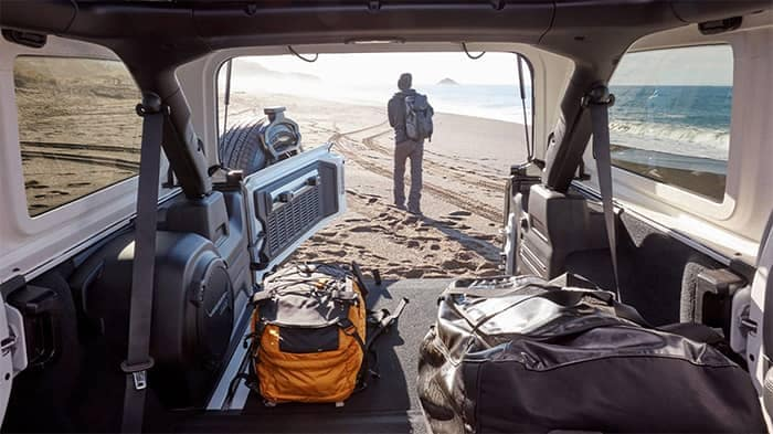 Jeep Wrangler Cargo Area