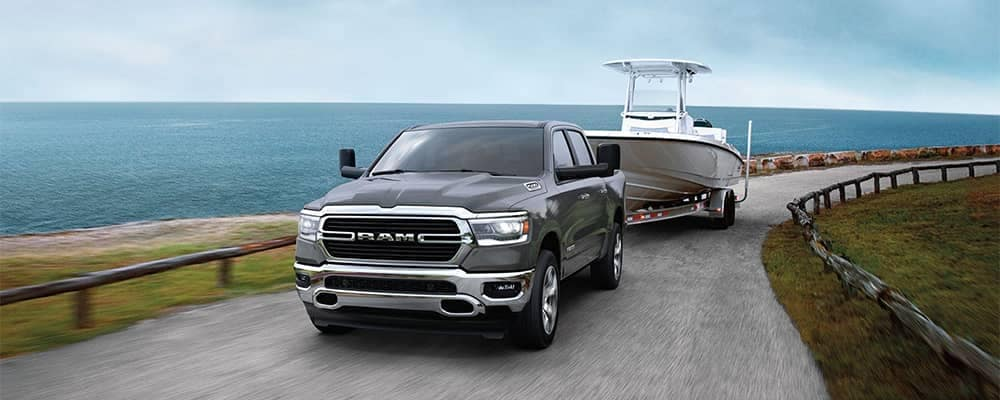 Ram 1500 Towing a Boat