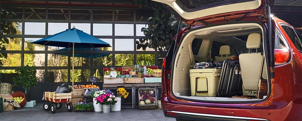 Chrysler Pacifica Cargo Area Packed