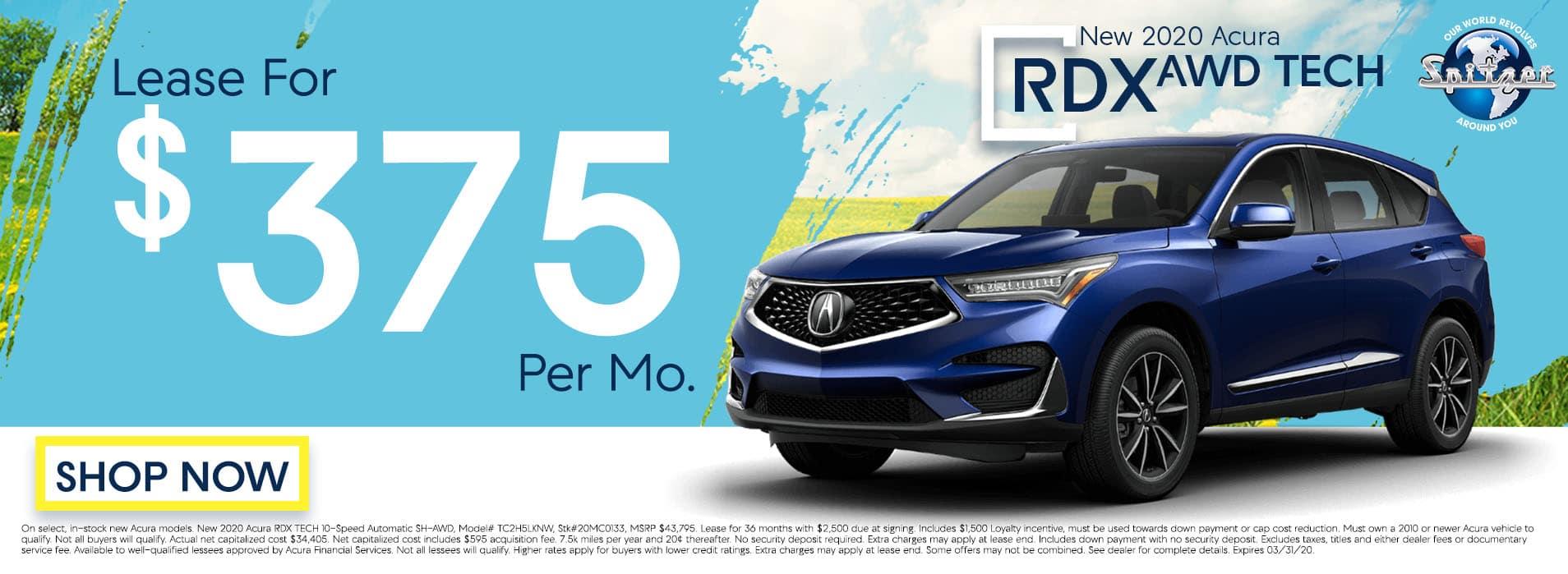RDX | Lease for $375 per mo