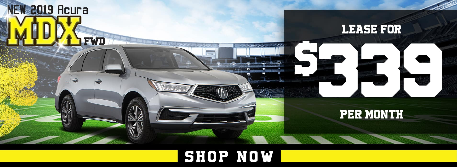 MDX lease for $339 per mo