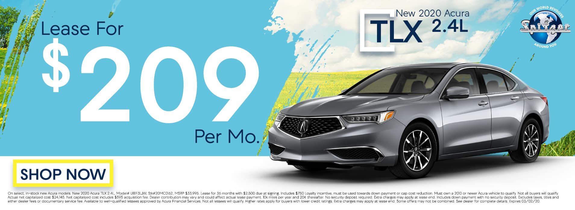 TLX : Lease for $209 per mo
