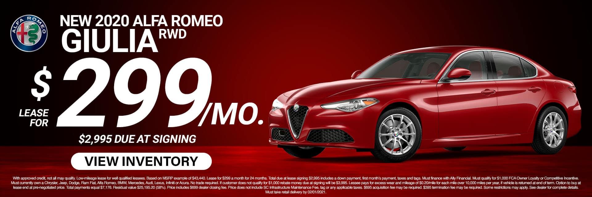 SLAR-January 20212020 Alfa Romeo Giulia