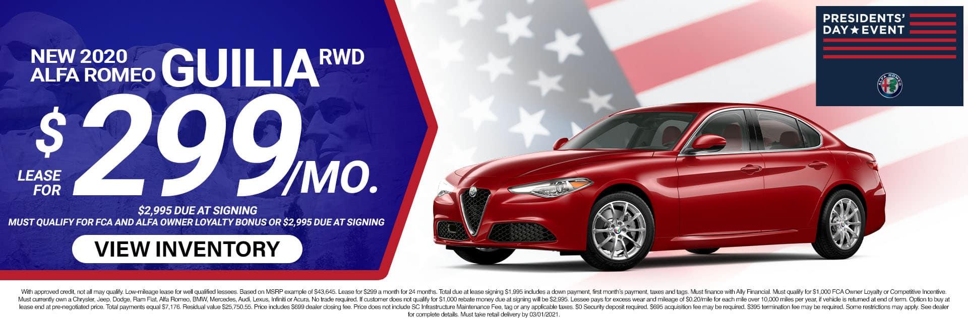 4SLAR-February 20212020 Alfa Romeo Giulia