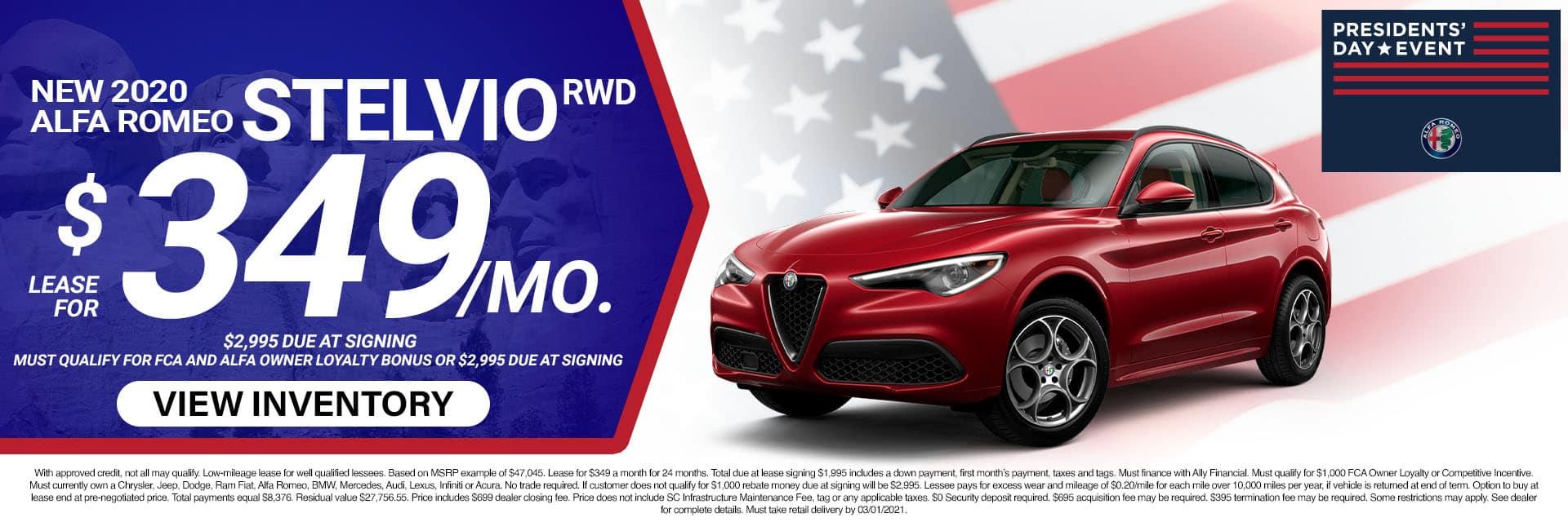 4SLAR-February 20212020 Alfa Romeo Stelvio