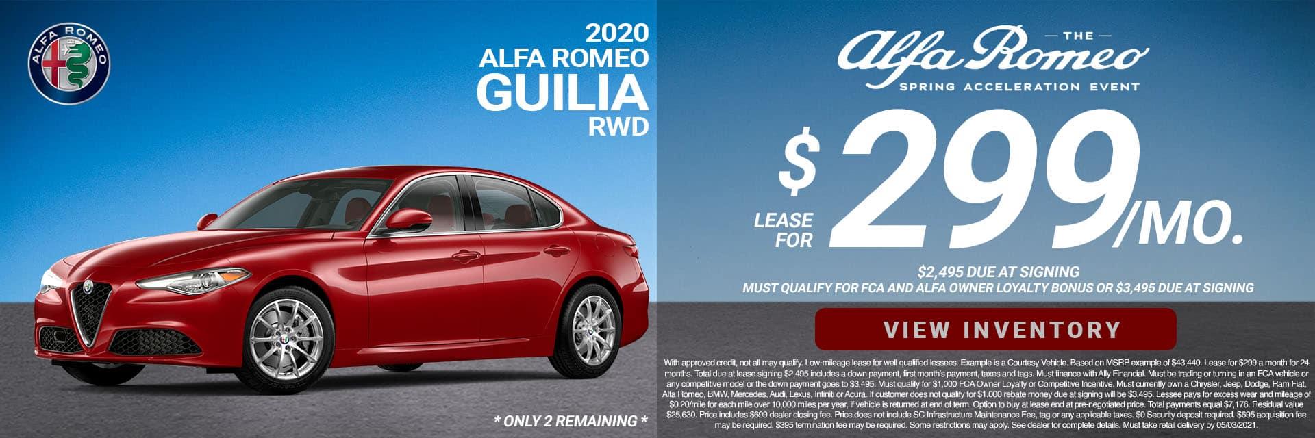 SLAR-April 20212020 Alfa Romeo Giulia