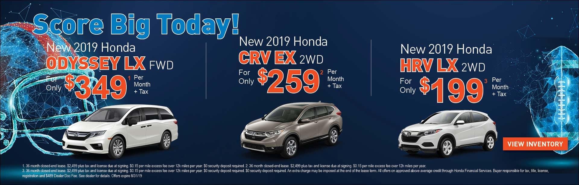 Odyssey LX, CRV EX, HRV LX Special