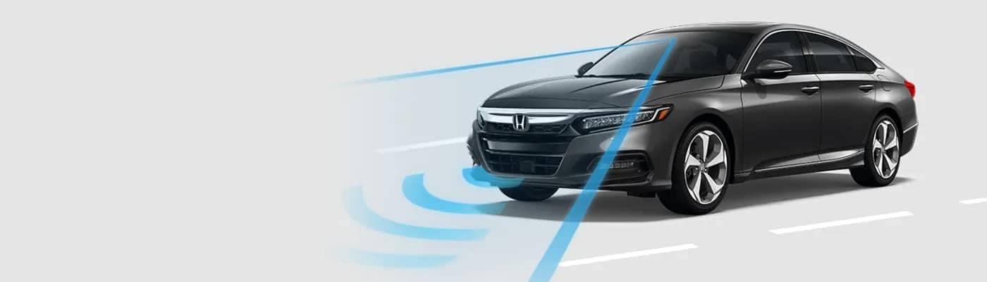 A new Honda Accord with forward collision warning.