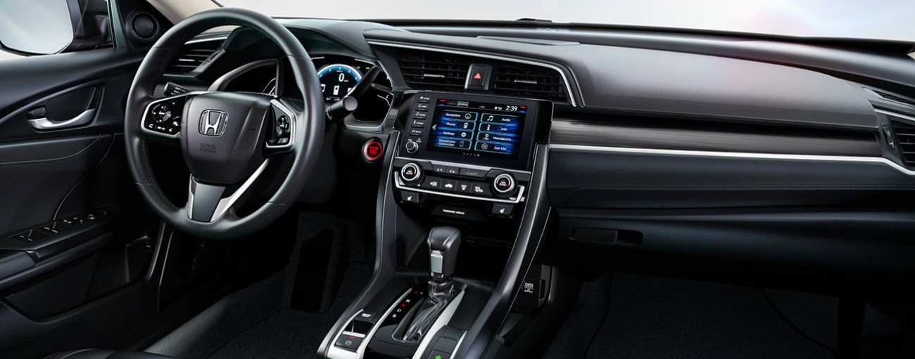 Front interior of a 2020 Honda Civic