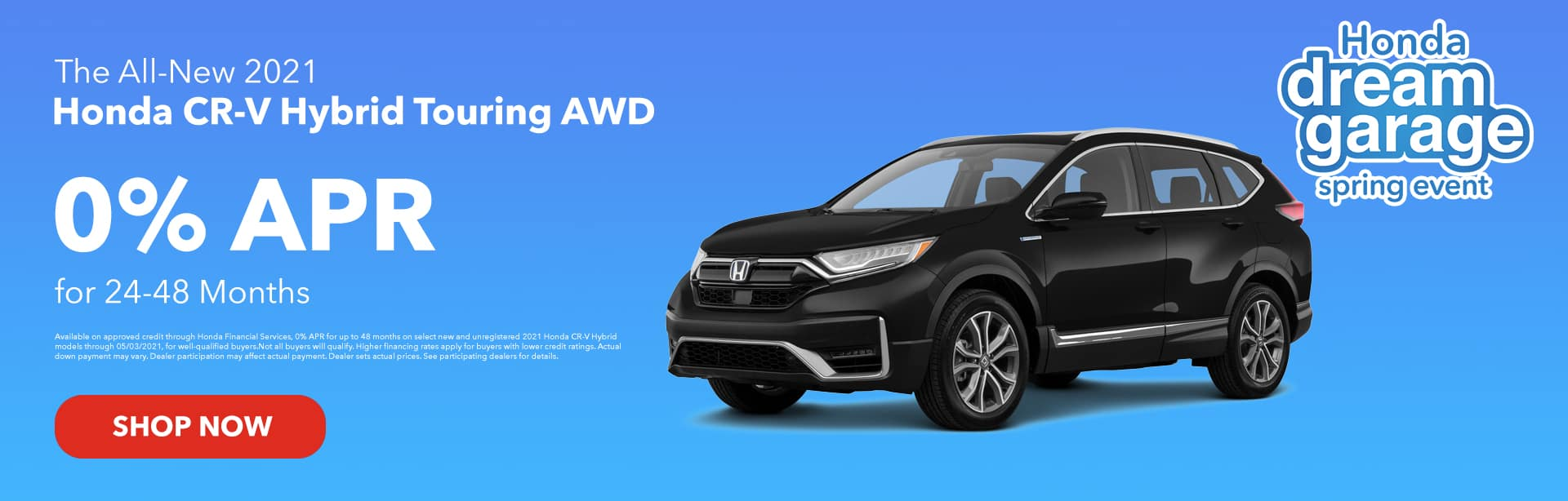 The All-New 2021 Honda CR-V Hybrid Touring AWD 0% APR for 24-48 Months