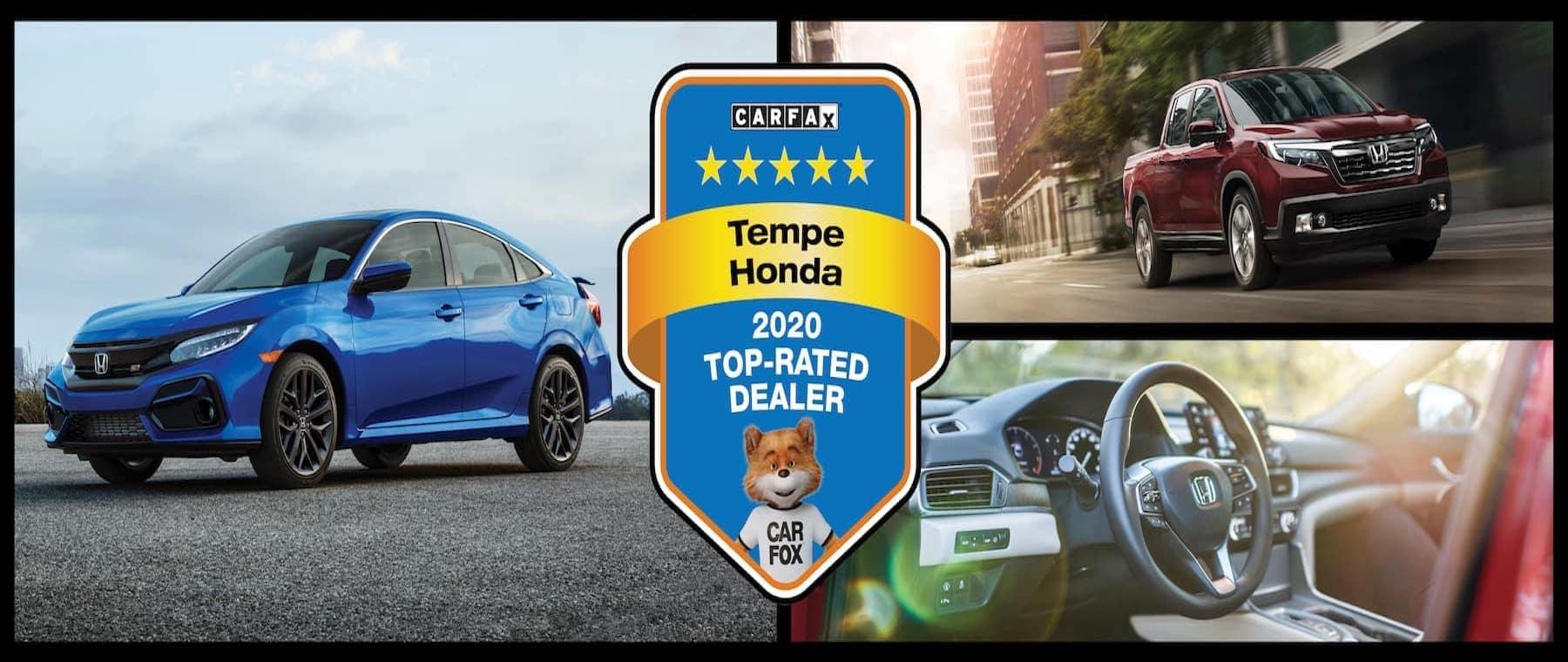 Tempe Honda 2020 top-rated Carfax dealer