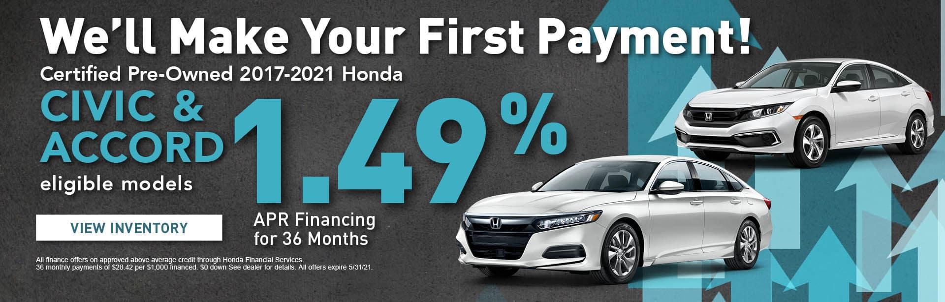 CPO Honda Civics & Accords