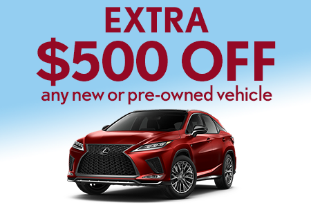 $500 OFF Any New or Pre-Owned Vehicle