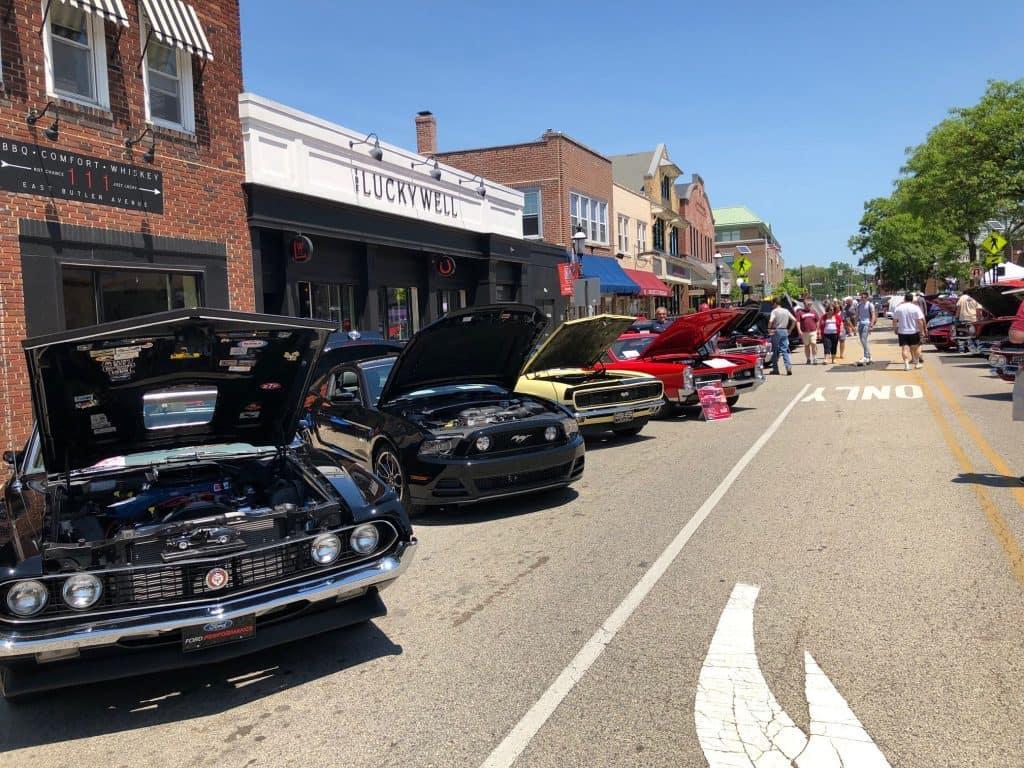 23rd annual car show in Ambler, PA