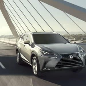 2020 Lexus NX 300 Crossover Silver Driving View