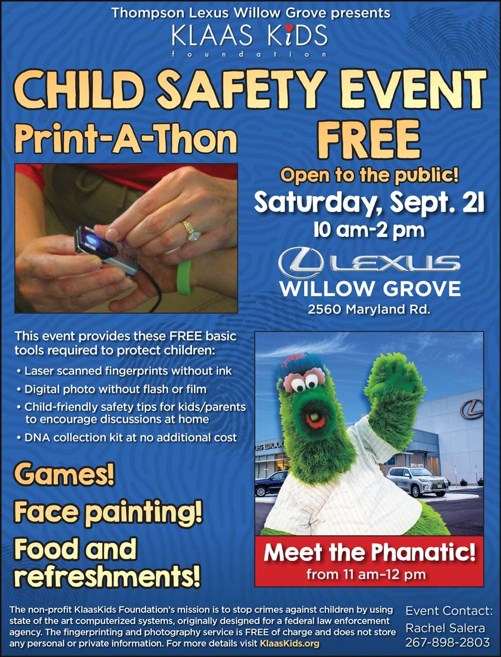 KlaasKids Child Safety Event Flyer