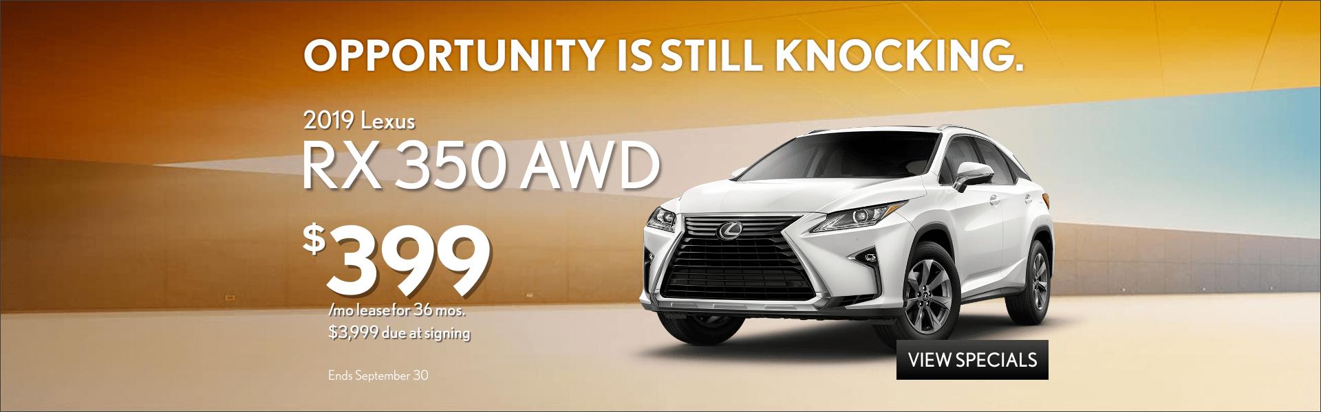 2019 RX 350 AWD