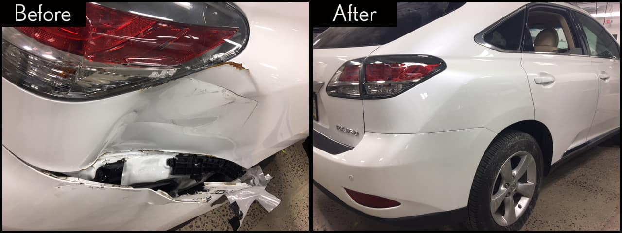 Lexus RX350 Before and After Thompson Collision Center