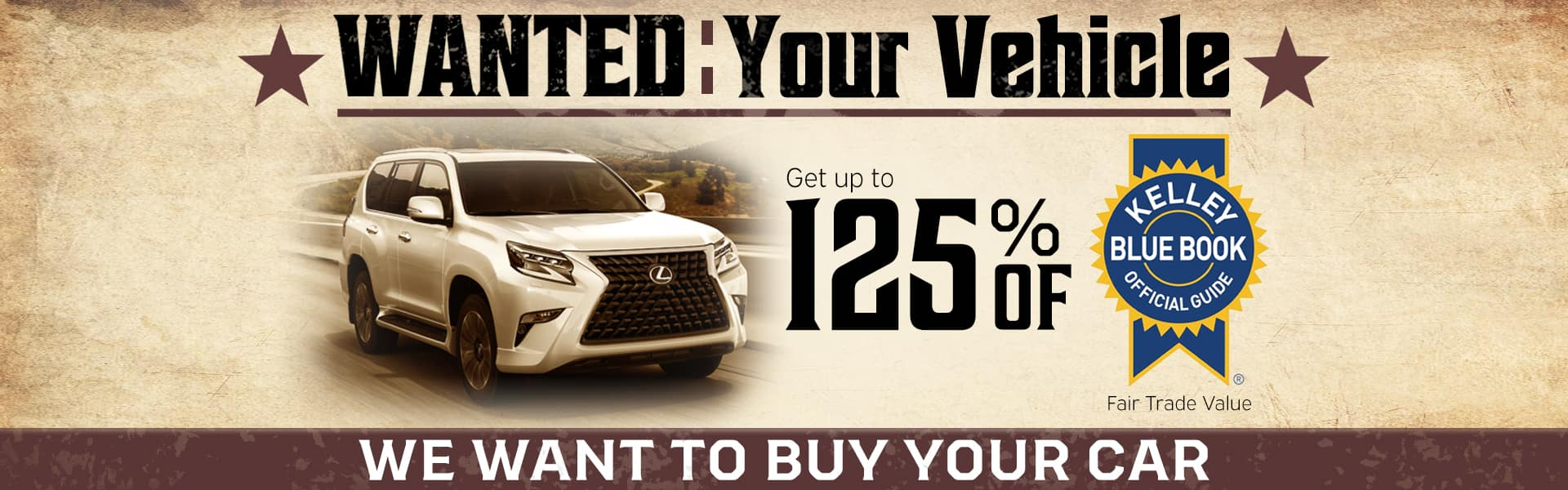 Sell us your vehicle at Thompson Lexus Willow Grove