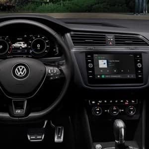 volkswagen dashboard and steering wheel