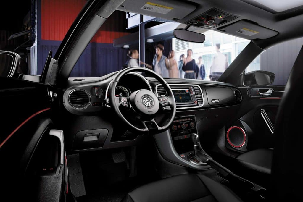 Interior of the 2019 Beetle