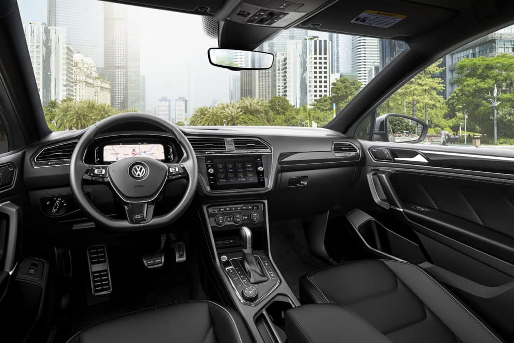Interior of the 2020 Tiguan