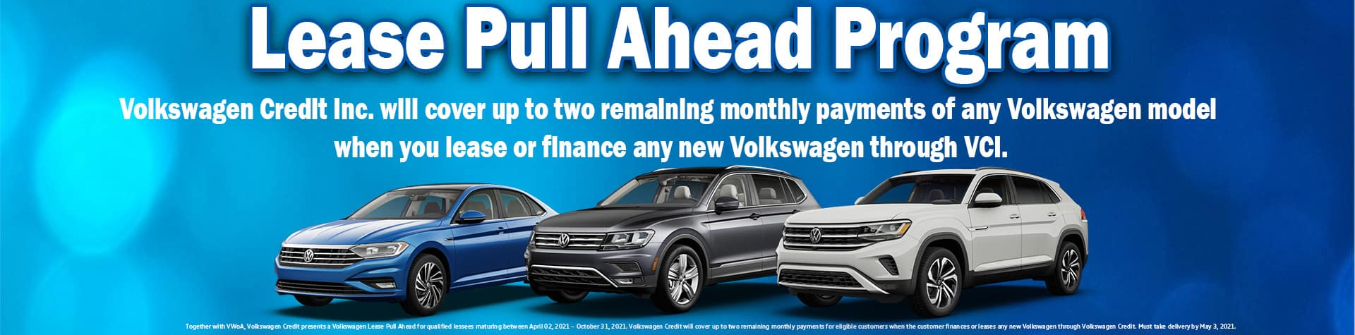 Lease pull ahead banner