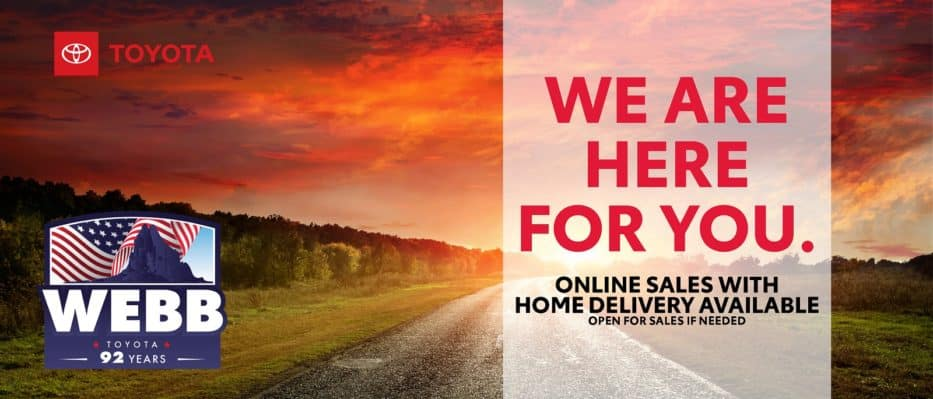 Webb Toyota is Here For You